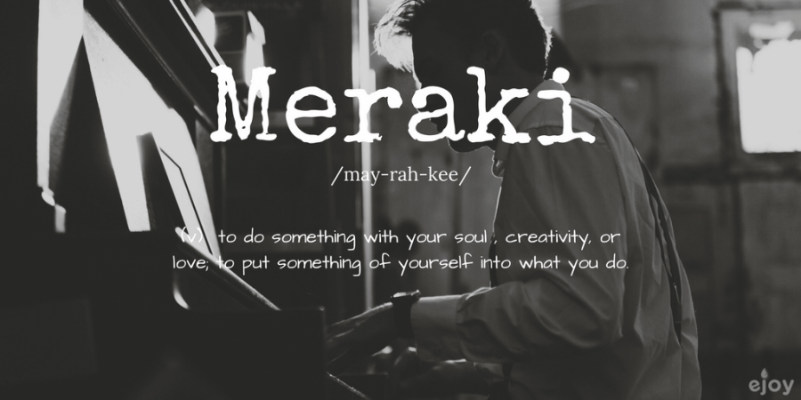 beautiful words in English - meraki
