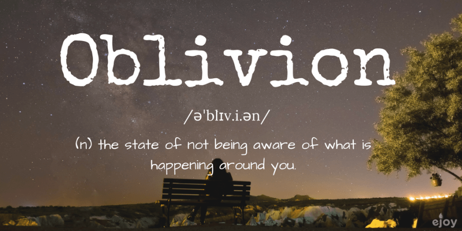 beautiful words in English - oblivion