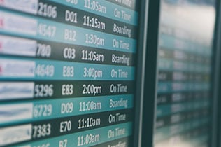 travel vocabulary - departure time