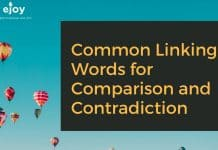 linking words for comparison and contradiction