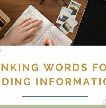 linking words for adding information