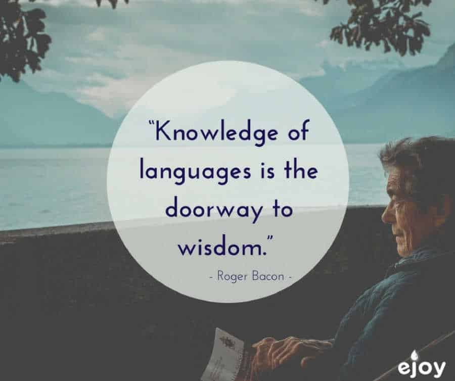 quotes about language learning - knowledge of languages