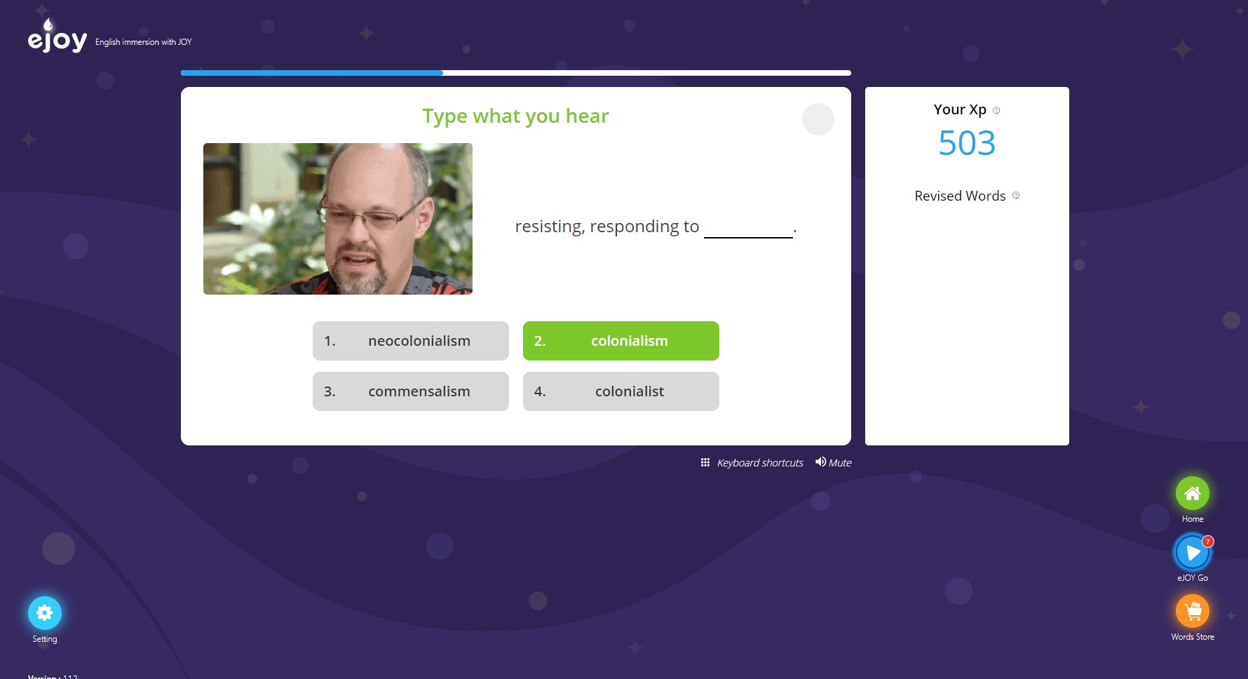 multiple choice trên eXtension