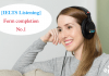 Ielts Listening form completion