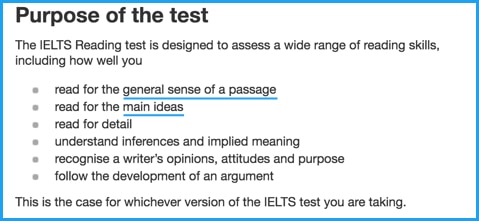 Purpose of the IELTS test
