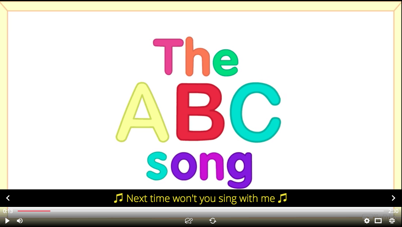 The English Alphabet song