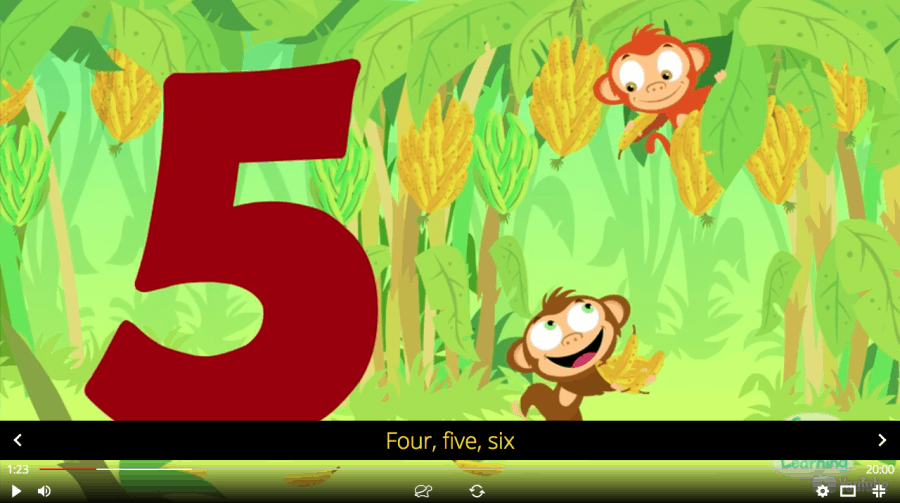 English numbers counting song 1-20