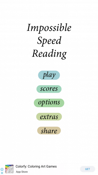 Impossible Speed Reading 1