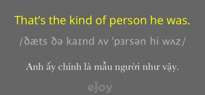 kind of person