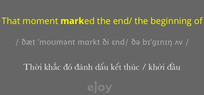 mark the end