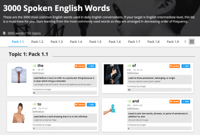 3000 Spoken English Words