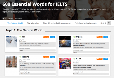 The Barron's Essential Words for the IELTS