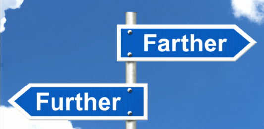 Differences between farther and further