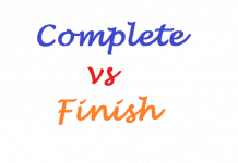 Complete Vs. Finish