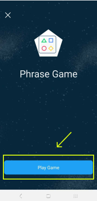 Choose Play Game to start reviewing selected phrases