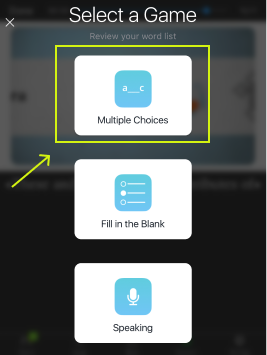 Tap on Multiple Choices