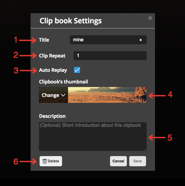 ClipBook setting