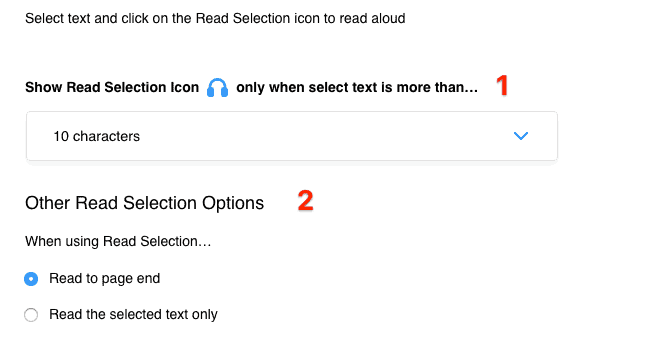 Read Selection