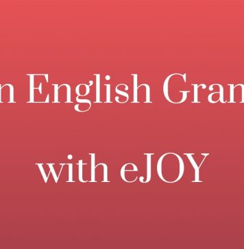 Learn English grammar with eJOY